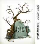 tomb  rest in peace vector icon | Shutterstock .eps vector #306343829