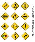 traffic signs | Shutterstock .eps vector #3063446