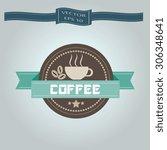 set of vintage retro labels ... | Shutterstock .eps vector #306348641