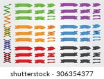 vector ribbons and banners. | Shutterstock .eps vector #306354377