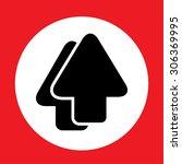 arrow icon | Shutterstock .eps vector #306369995