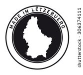 made in luxembourg vector logo... | Shutterstock .eps vector #306374111