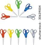 vector. scissors | Shutterstock .eps vector #30639004
