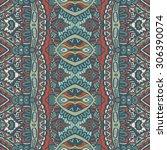 vector ethnic abstract seamless ... | Shutterstock .eps vector #306390074
