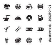 vector black food and drink... | Shutterstock .eps vector #306390401