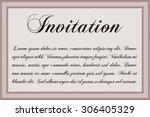 vintage invitation template.... | Shutterstock .eps vector #306405329