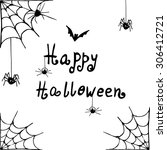 vector halloween background... | Shutterstock .eps vector #306412721