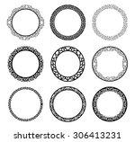 circle frames | Shutterstock .eps vector #306413231
