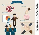 business success concept... | Shutterstock .eps vector #306419414