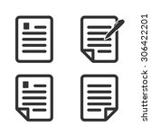 paper icon document icon vector ... | Shutterstock .eps vector #306422201