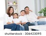 portrait of asian family...   Shutterstock . vector #306423095