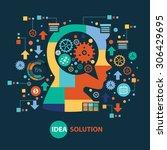 idea creative concept design on ... | Shutterstock .eps vector #306429695