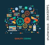 quality coding concept design...   Shutterstock .eps vector #306430991