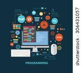 programming concept design on... | Shutterstock .eps vector #306431057
