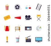 movie and cinema themed... | Shutterstock .eps vector #306444551