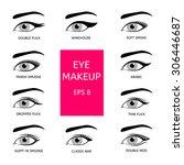 types of eye makeup | Shutterstock .eps vector #306446687