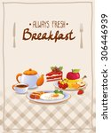 breakfast poster with egg ... | Shutterstock .eps vector #306446939
