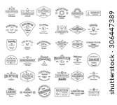 vintage retro logo badges set... | Shutterstock .eps vector #306447389