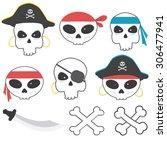 pirate skull | Shutterstock .eps vector #306477941
