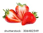 fresh juicy strawberry. sliced. ... | Shutterstock . vector #306482549