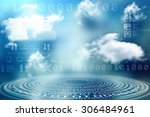 digital abstract business... | Shutterstock . vector #306484961