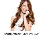 portrait of beautiful young...   Shutterstock . vector #306491669