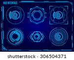 hud. sci fi futuristic user... | Shutterstock .eps vector #306504371