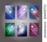 set of poster  flyer  brochure  ... | Shutterstock .eps vector #306505721