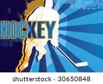 Hockey abstract poster. Vector illustration. - stock vector