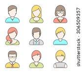 people userpics icons in line... | Shutterstock .eps vector #306509357