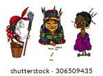 cartoon old women characters... | Shutterstock .eps vector #306509435