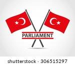 turkey cross flags emblem... | Shutterstock .eps vector #306515297