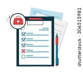 medical records icon in flat... | Shutterstock .eps vector #306515981