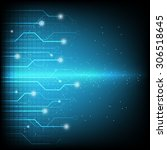 technology background  ... | Shutterstock .eps vector #306518645