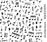a lot of music signs and note... | Shutterstock .eps vector #306524594
