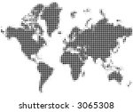 black and white mozaic map of... | Shutterstock . vector #3065308