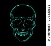 vector image of human skull in... | Shutterstock .eps vector #306530891