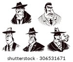 gangsters set  vector