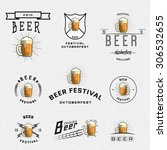 beer festival badges logos and... | Shutterstock .eps vector #306532655