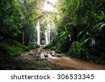 mork fa waterfall is located in ... | Shutterstock . vector #306533345