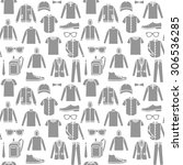 vector seamless pattern of men... | Shutterstock .eps vector #306536285