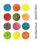 pastel watercolor circles... | Shutterstock . vector #306537851