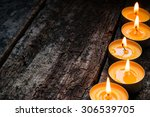 Flavored Spa Candle On A Woode...