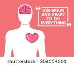 brain and heart in human shape... | Shutterstock .eps vector #306554201
