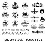 vector vegetables logos  label... | Shutterstock .eps vector #306559601