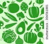 vector vegetables seamless... | Shutterstock .eps vector #306561881