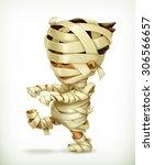 little funny mummy  vector icon | Shutterstock .eps vector #306566657