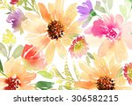 greeting card. watercolor... | Shutterstock . vector #306582215