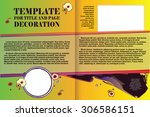 vector template booklet in a