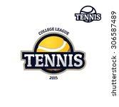 colorful tennis sport logo... | Shutterstock .eps vector #306587489